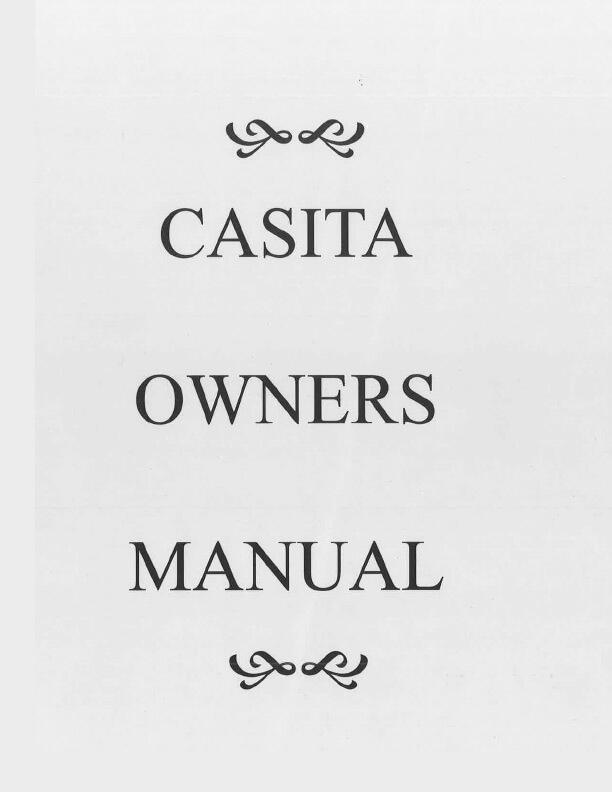 Casita Owners Manual