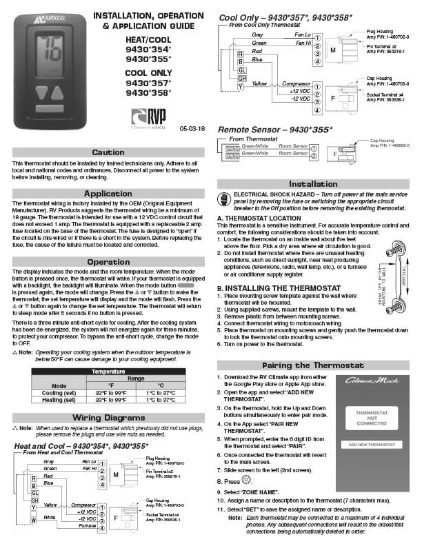 Airxcel Manual