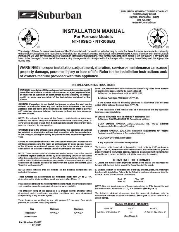 Suburban Manual