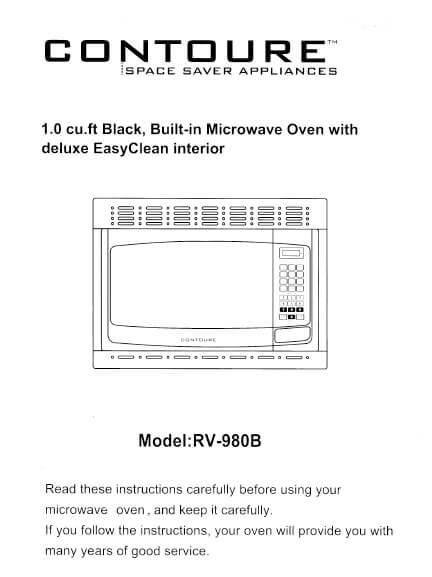 Contoure Microwave Manual