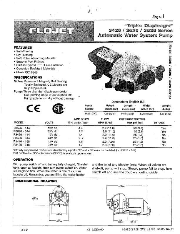 Flojet Manual